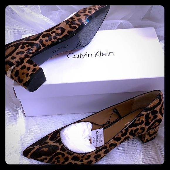 Calvin Klein Genoveva Leopard Pump